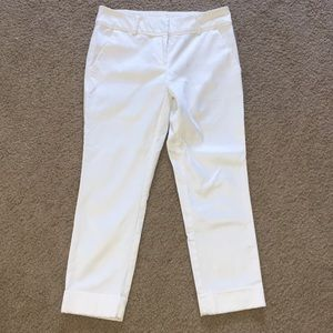 New York and Company White Cropped Pant